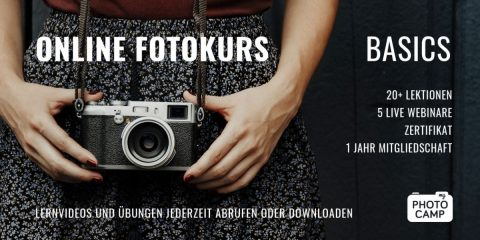 """Online Fotokurs """"Basics"""" (Selbstlerner)"""